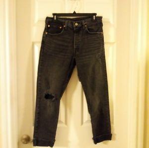 Levis vintage 501 black jeans
